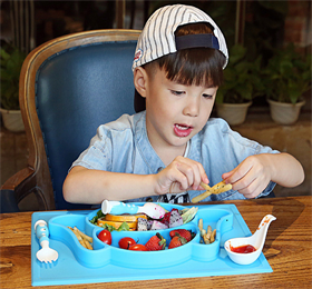 Enjoy the innovation design, fun and beautiful silicone placemat plate for kids & your little ones.