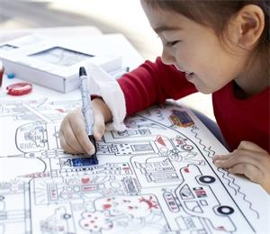 Great gift for children 3-years of age, a reusable coloring baby silicone placemat.