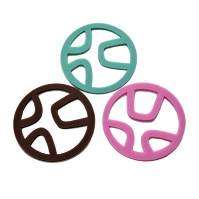 durable silicone colorful cup mat
