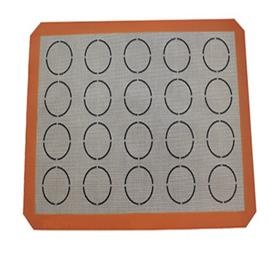 non-stick food grade silicone macaron baking mat with fiberglass