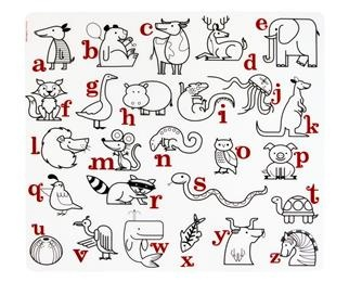 alphabet animals kids silicone coloring placemat