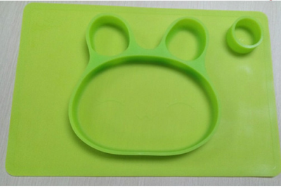 heat-resistant food fruit silicone plate for kids BPA free