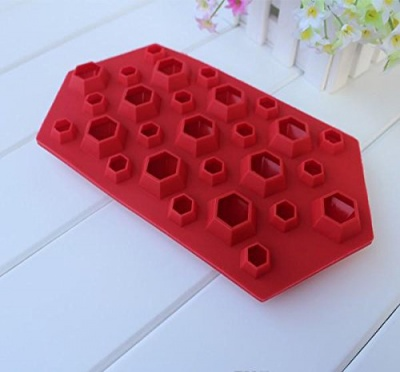 3d diamonds cool silicone ice cube tray