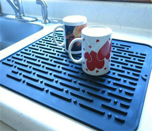 dish silicone drying mat for kitchen counter