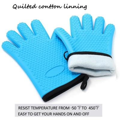 silicone kitchen gloves with quilted cotton lining
