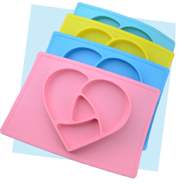baby silicone heart shape placemat