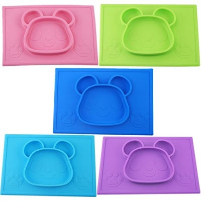 one-piece baby silicone placemat panda design