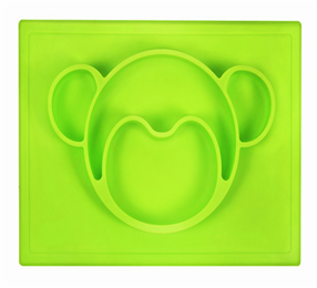 kids one piece silicone placemat plate