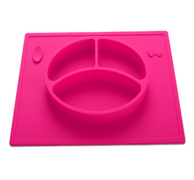 kids silicone placemat plate toddlers feeding infants