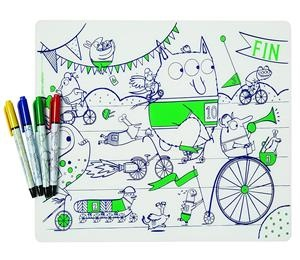 bpa free kids mark-mat silicone coloring placemat