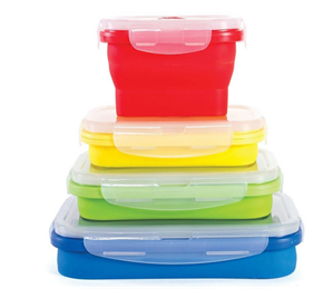 new design collapsible folding silicone lunch box
