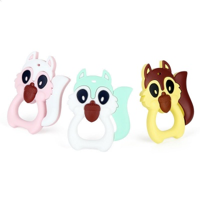 Silicone Squirrel Teether Baby Chew Teething Toy