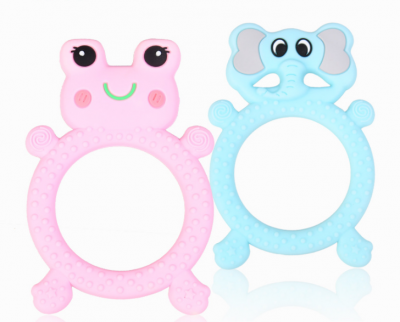 soft silicone animal shape teether chewable teething toy