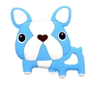 kids gift animal teethers pendants baby silicone dog teething toys