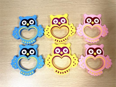 fda grade owl silicone baby teether
