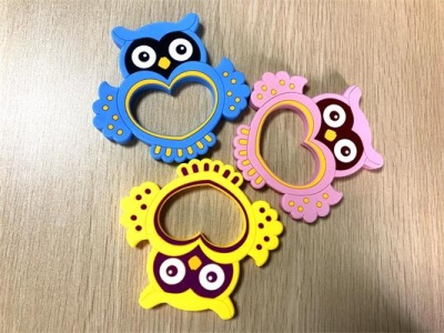 bpa free baby owl silicone teether