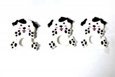food grade cartoon animal design baby silicone teether dog