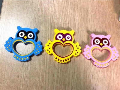 nice design owl baby silicone toys teether