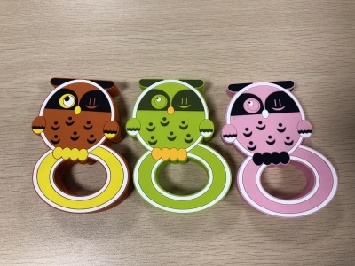 animal shaped silicone owl teether for teething baby