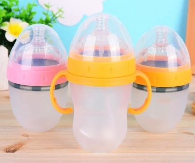 popular silicone feeding water cup food grade silicone baby bottle