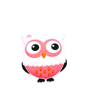 food grade silicone baby teether in owl shape