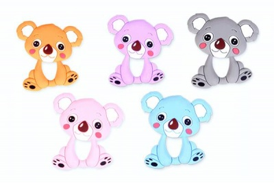 baby cartoon animal silicone teether