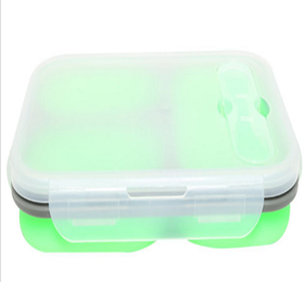 3 Compartment Foldable Silicone Lunch Box