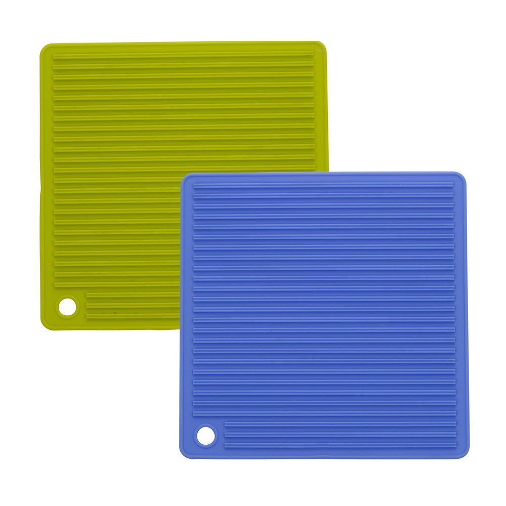 Square horizontal stripes silicone mat