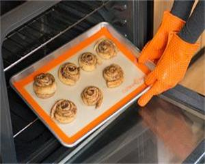 twill silicone baking mat with fiberglass