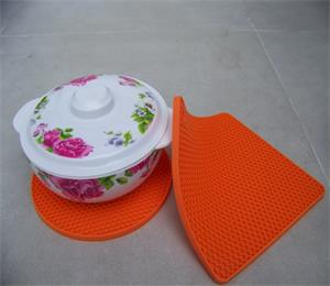 hot sales round silicone pot mat