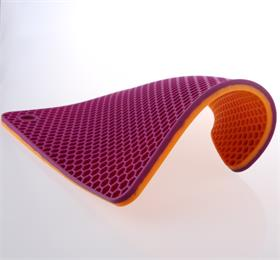 purple square honeycomb silicone heat resistant coasters insulation pad