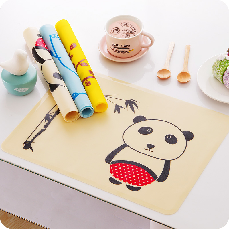 multi colors silicone waterproof placemat