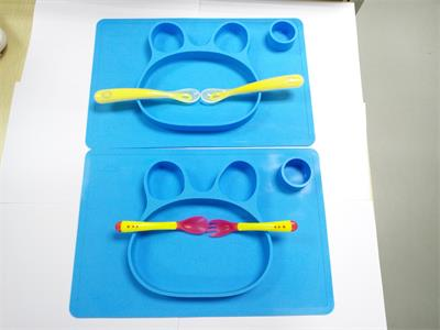 silicone placemat suction plate for toddlers