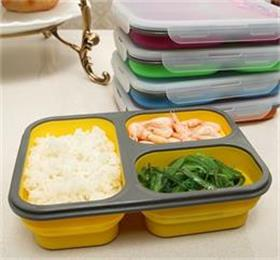 foldable silicone lunch box for kids