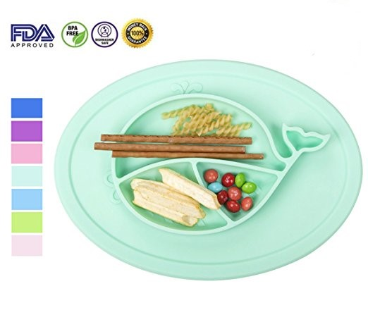 babies highchair feeding tray round silicone placemat