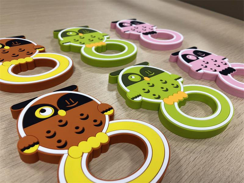 fda approved cute owl design silicone bendable baby teether